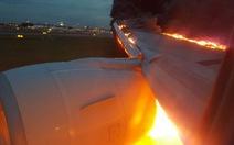 Máy baySingaporebốc cháy khi hạ cánh khẩn