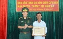 Khen thưởng bốn ngư dân cứu phi công Su30-MK2