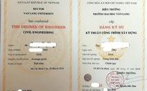 Quyền hiệu trưởng ĐH Văn Langký bằng tốt nghiệp là không phù hợp
