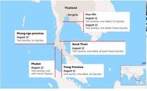 Thái Lan rúng động với 11 vụ đánh bom trong một ngày