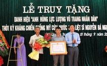 Truy tặng danh hiệu cho liệt sĩ Nguyễn Bá Ngọc