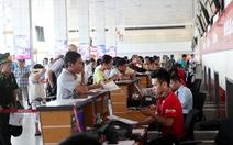 Sân bay Nội Bàichỉ phát loa thông báo 1 lần