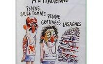 Charlie Hebdo bị chỉ trích vì tranh biếm động đất ở Ý