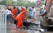 Vỡ ống cấp nước, gần trăm hộ dân bị cúp nước
