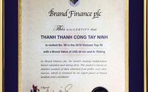 Top 50 thương hiệu giá trị nhất Việt Nam 2016