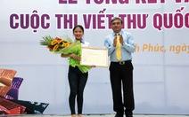 VN đoạt giải nhất cuộc thi viết thư quốc tế UPU lần thứ 45