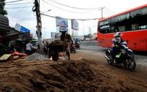 Dân khốn khổ vì thi công đường Kinh Dương Vương