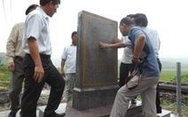 Phục dựng mốc bia ghi dấu tích đường sắt Việt Nam
