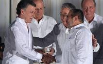 Tổng thống Colombia tặng dân Colombiatiền thưởng Nobel Hòa bình