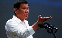 Tổng thống Duterte lại đổi ý nói chuyện Biển Đông với lãnh đạo Trung Quốc