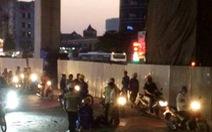 Công nhân rơi từ đường sắt trên cao Cát Linh - Hà Đông xuống đất