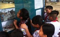 Dùng ảnh lũ lụt miền Trung để giáo dục học sinh