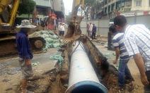 Đào thăm dò phục vụ metro, xì bể đường ống nước