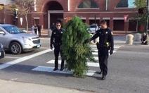 Bị bắt vì ăn mặc như… cây đứng giữa đường