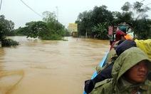 Hồ Kẻ Gỗ xả tràn, nhiều khu dân cư ngập lụt