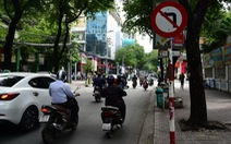 Cấm rẽ trái được quay đầu, đường một chiều cho vượt phải