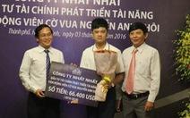 Công ty Nhất Nhất tài trợ gần 1,5 tỷ đồng cho kỳ thủ Nguyễn Anh Khôi