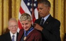 Ellen DeGeneres nhận Huân chương Tự do của tổng thống Mỹ