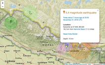 Động đất 5.4 ở Nepal