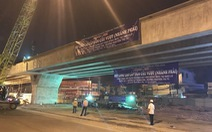 Hợp long cầu vượt nút giao thông Gò Mây