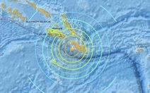 Động đất 7,8 độ Richterngoài khơi Solomon, cảnh báo sóng thần