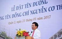 Đường trục Thủ Thiêm mang tên nhà ngoại giao Nguyễn Cơ Thạch