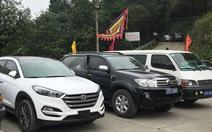 Nghệ An: Hàng chục xe công đi lễ đền đầu năm
