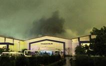 Cháy xưởng sản xuất xe bus của ôtô Trường Hải