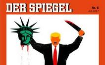 Báo Đức hứng búa rìu vì đăng biếm họa ông Trump