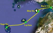 Ca nô chở 14 người chìm giữa biển Kiên Giang