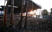Cháy lớn thiêu rụi khu lán tại khu đô thị Ciputra