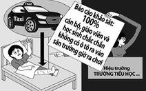 Tìm được tài xế taxi làm học sinh tiểu học gãy chân
