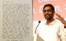 CEO Google hồi âm thư xin việc của bé gái 7 tuổi