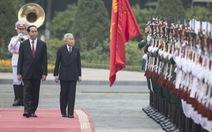 Lễ đón Nhà vua và Hoàng hậu Nhật Bản tại Phủ Chủ tịch