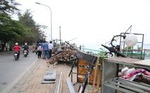 Hồ Tây hôi thối sau khi tháo dỡ nhà hàng nổi