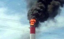 Tia lửa hàn bắn ra gây cháy tại Nhiệt điện Vĩnh Tân 4