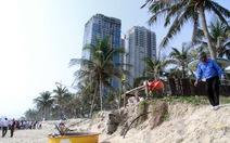 Lo bờ biển Đà Nẵng sạt lở nghiêm trọng