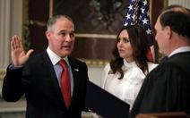 Lãnh đạo môi trường Mỹ gây bão khi nói về khí CO2