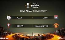 Điểm tin tối 21-4: M.U gặp Celta Vigo ở bán kết Europa League