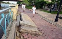 Bờ kè công viên Tầm Vu bị sụt lún