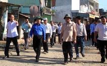 Bộ TN-MT khảo sát hiện trường sạt lở ở Vàm Nao