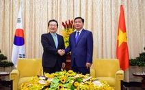 Bí thư Đinh La Thăng tiếp chủ tịch Quốc hội Hàn Quốc