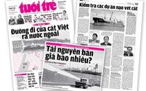 Tôn vinh bạn đọc chung tay 'cứu' cát Việt