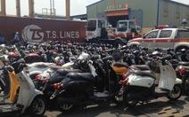 Phát hiện gần 100 xe máy, đồ điện tử cũ tại cảng