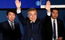 Ông Moon Jae In tuyên bố thắng cử tổng thống Hàn Quốc