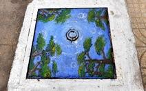 Ngắm nắp cống Sài Gòn biến thành những bức tranh trên phố