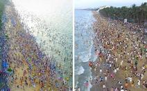 Người Trung Quốc ùa nhau tắm biển 'lấy hên'