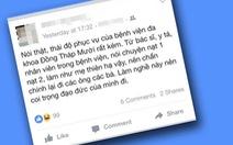 Xếp lại hạnh kiểm nữ sinh 'chê bệnh viện trên facebook' loại khá