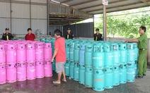 Tây Ninh tạm giữ thêm 200 vỏ bình gas nghi nhãn hiệu giả