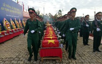 Truy điệu, an táng 122 hài cốt liệt sĩ quân tình nguyện Việt Nam